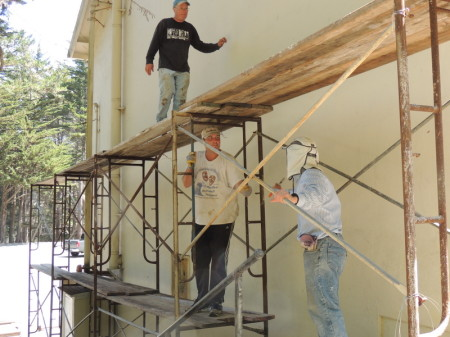Volunteers through the Rotary Club of Pacifica help make PSP look brand new!